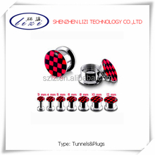 316stainless steel screw plugs and picture inlay tunnels