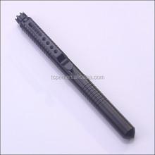 Tactical First Line Self Defense Writable Black Ink Pen with Pocket Clip