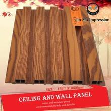Environmental Friendly Wood Plastic WPC High Gloss Wall Paneling