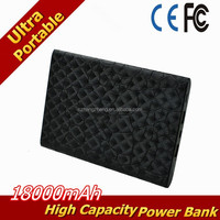 Power Bank,Leather Ultra Compact 18000mah Portable Charger External Battery Power Bank (Black(leather))