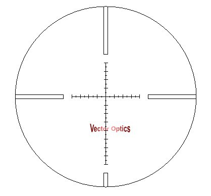 Vector Optics Tactical 4-14x50 Rifle Scope MP Reticle Long Eye Relief Riflescope