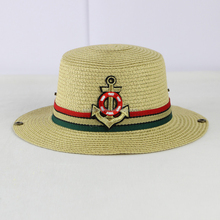 cheap crochet baby straw cowboy hat pattern wholesale QHAT-5586