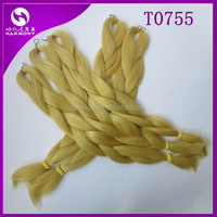 (50 packs T0775, 80grams/pack) STOCK CATKIN YELLOW super x braid hair for dreadlocks/fake hair for braiding