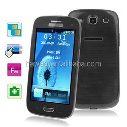 New!!2015 new products cheap mobile phone 4.0 inch Touch Screen Mobile Phone i9300 Black