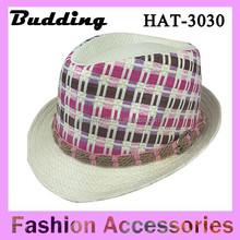 Fashion Straw Jazz Hats Women Men Party Top Caps Summer Beach Sun Hats