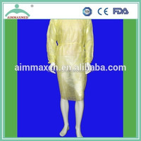 non woven PP/SMS medical M/L/XL/XXL size green isolation gown
