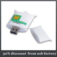 mass production 8GB customized bag shape usb flash drive
