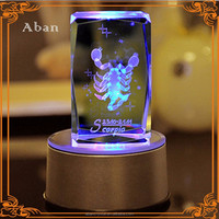 crystal LED light base table decoration for gifts