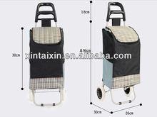 2013 waterproof 600D two wheels lightness frame bag shopping cart