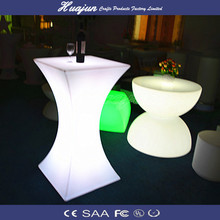 rechargeable outdoor led furniture table