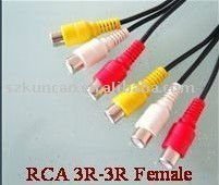 High quality Audio/video cable RCA cable 3R-3R Female