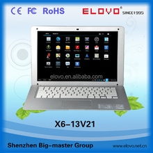 laptop prices in japan 13.3 inch android laptop VIA8880 dual core built in hdmi wifi camera