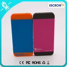 Soft touch feeling slim 5000mah built in cable power bank
