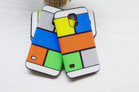 Colorful Check Mobile Phone Case for Galaxy Note 3 N9000 Case