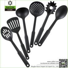 Personalized 6 PCS Black Nylon Kitchen Utensils