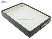 Wholesale Customized Leather Packaging Plastic Jewelry Bracelet Display Set Box Made in China S336SL