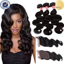 Grade 6A factory price 4*4 silk base lace closure virgin peruvian hair bundles with free parting lace closure