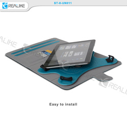 high quality pu leather case for 7-8 inch universal tablets,360 degree rotate with stands,fresh colors are available