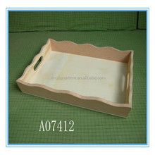 High quality custom design natural wooden serving tray wholesale