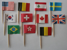 different country cocktail party flags decorating fruit pick flag