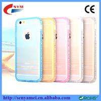 Luxury TPU Rhinestone ultrathin cell phone case for iphone 6 case, for iphone 6 case clear