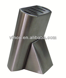 Stainless steel kitchen knife block