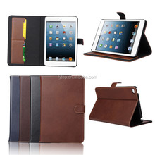 Genuine Wallet Leather Case For iPad Mini 4 With Slots