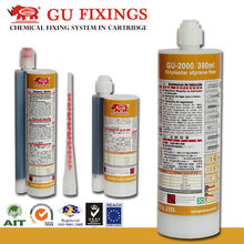 Construction adhesive anchor fasteners two component glue