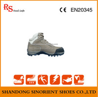 Nubuck rubber outsole work boots for men /Oil water resistant working industrial safety boots men SNS7212