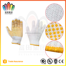 FT SAFETTY 7G Knitted Safety Working glove,Belached Polyester Cotton with One Sided PVC Dots