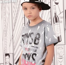 child casual clothes brand boy T shirts in guangzhou factories