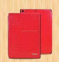 High-end crocodile genuine mobile phone leather case for ipad 5