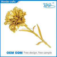 unique 24K pure golden carnation handcrafted flowers foil gold crafts good gift for the one you love best mother's day gifts
