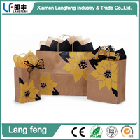 Recycled Sunflower kraft paper bags