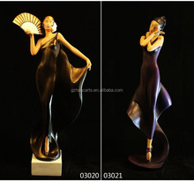 resin figurine art and craft of sex dancing girl