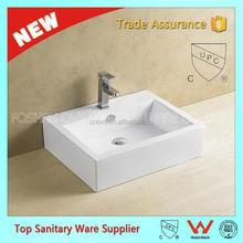 Lavadero de cerámica rectangular lavabo de cerámica