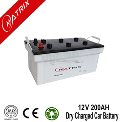 HOT SALE! 12v dry cell car battery N200 12v 200ah jis car battery