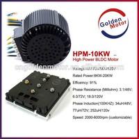 10KW electric car wheel motor