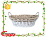 white willow wicker bread basket with handle and liner, oval wicker basket