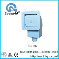Swimming pool equipmen wall skimmer with face plate cover