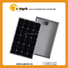 High Efficiency 100W CE Monocrystalline Silicon photovoltaic Solar Panels