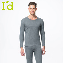 Men O-neck Wool Coral Fleece Thermal Underwear Winter Thickening Brand Fashion Patch Thermal Long Johns For Men (L-XXXL)