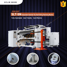 Automatic Small Label Jumbo Kraft Paper BOPP Plastic Film Roll Cutter Slitter Rewinder Cutting Slitting Rewinding Machine Line