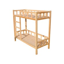 Safety original wooden kids double deck bed