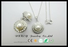 pearl jewelry setcheap pearl necklace and earring setpearl necklace jewelry description