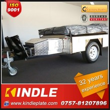 High quality heavy duty off road stainless steel camper trailer with tent