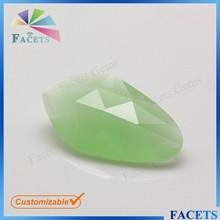 las facetas gemas de fantasía de corte de doble vidrio facetado de material en bruto de jade