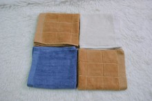 High water absorbency jacquard microfiber cleaning cloth