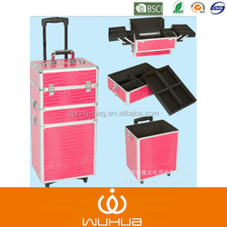 heavy instrument flight case aluminum trolley case