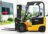 AC drive motor Vmax four wheel 2Ton Battery Forklift truck